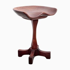 Solid Walnut Stool by Fred Camp, 1980s