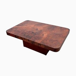 Large Copper and Mahogany Coffee Table by Bernhard Rohne, 1960s