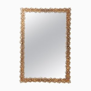 Square Illuminated Crystal Glass Model S100W Mirror from Palwa, 1970s