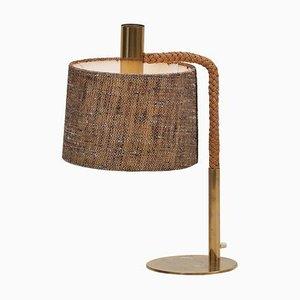 Lampe de Bureau en Corde Style Adrien Audoux, 1970s