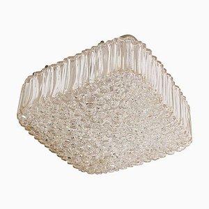 Square Glass Flush Mount or Sconce by Helena Tynell for Glashütte Limburg, 1960s