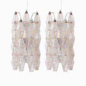 Polyedrische Wandleuchten oder Wandlampen aus Muranoglas von Carlo Scarpa für Venini, 1960er, 2er Set