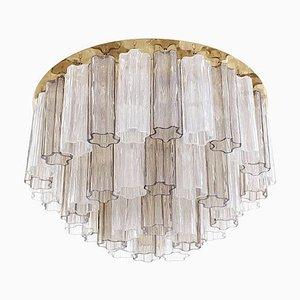 Große 3-stufige Murano Glas Deckenlampe von Toni Zuccheri für Kalmar, 1960er