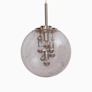 Große Bubble Glas Sputnik Hängelampe von Doria Leuchten, 1960er