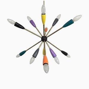Sputnik Pendant Chandelier in Different Colors, 1950s