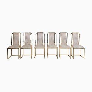 Chaises de Salon en Laiton par Romeo Rega, 1970s, Set de 6