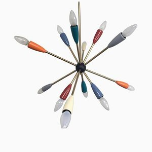Sputnik Pendant Chandelier Lamp in Different Colors, 1950s