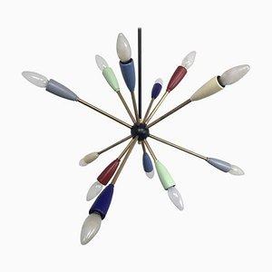 Sputnik Kronleuchter in verschiedenen Farben, 1950er