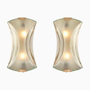 Model 2225 Sconces by Max Ingrand for Fontana Arte, 1960s, Set of 2