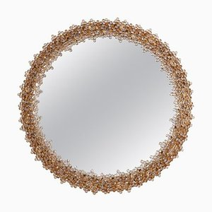 Round Illuminated Crystal Glass Model S104W Mirror from Palwa, 1970s