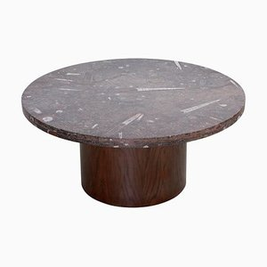 Coffee Table with Fossil Stone Top by Heinz Lilienthal, 1970s