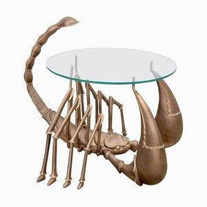 Table Basse Scorpion en Laiton Attribuée à Jacques Duval-Brasseur, 1970s