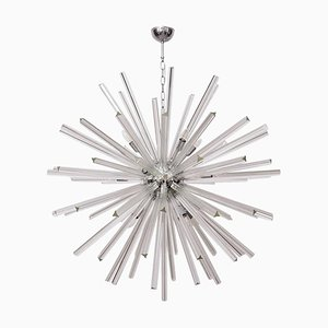 Large Vintage Murano Glass Sputnik Chandelier in the Style of Venini