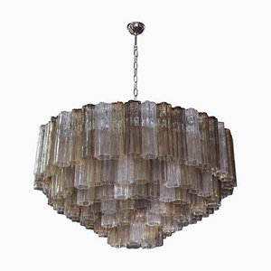 Large Multi-Color Logs Murano Chandelier by Toni Zuccheri for Venini, 2000s