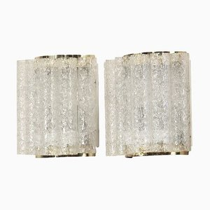 Wall Lamps in Brass and Glass from Doria Leuchten, 1960s, Set of 2
