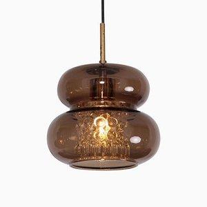 Lampe à Suspension en Marbre et Verre Bullé par Carl Fagerlund pour Orrefors, 1960s