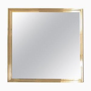 Large Brass Mirror in the Style of Maison Jansen, 1960s