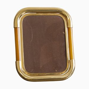 Picture Frame in Brass and Glass by Tommaso Barbi, 1960s