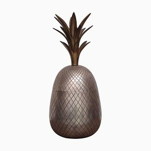 Large Brass Pineapple Ice Bucket or Trinket or Candy Box, 1970s