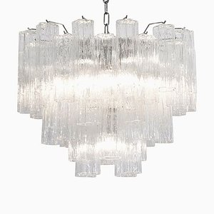 Large Murano Glass Tronchi Chandelier, 1980s