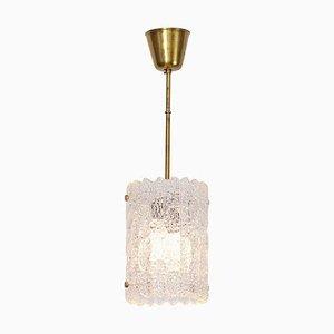 Lampe à Suspension en Verre par Carl Fagerlund pour Orrefors, 1960s