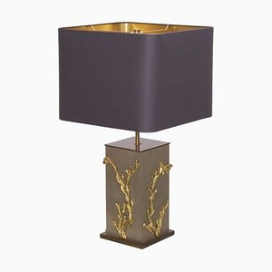 Large Bronze Algue or Corail Table Lamp from Maison Charles, 1970s
