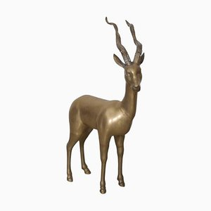 Large Brass Ibex or Deer, 1960s