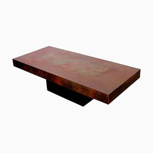 Copper Coffee Table by Bernhard Rohne, 1970s