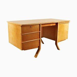 Birkenholz EB40 Schreibtisch von Cees Braakman für Pastoe, 1950er