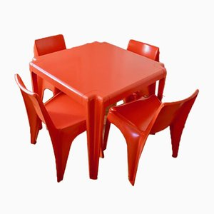 Conjunto de mesa y sillas de jardín de Helmut Bätzner para Bofinger. Juego de 5