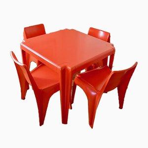 Table de Jardin et Chaises par Helmut Bätzner pour Bofinger, Set de 5