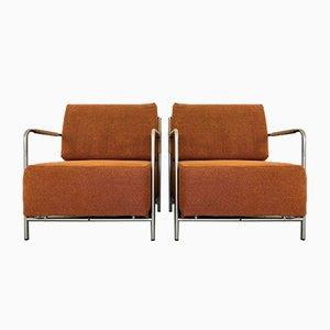 Sessel aus Stoff, 1980er, 2er Set