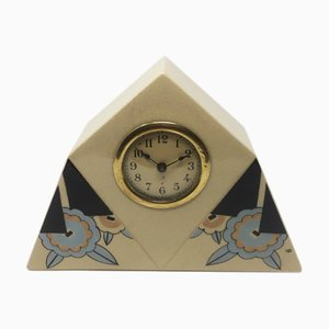 Art Deco French Ceramic Table Clock, 1930s