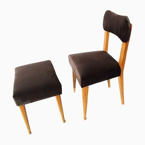 Chair and Stool Set, 1960s