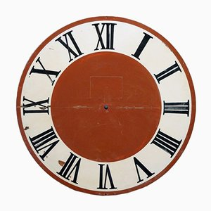 Large Antique Hand-Painted Tower Clock