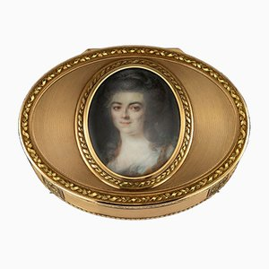 Antique German 18k Gold Snuff Box by Esais Fernau, 1790s