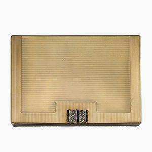 Art Deco Compact Compact Gold von Sarkir, Jacquard von Jacques Cartier für Cartier, 1936