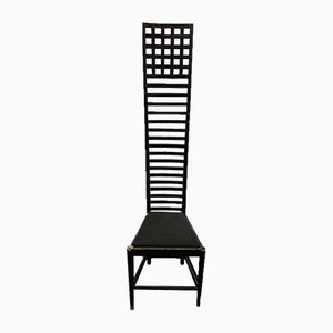 Hill House Chair by Charles Rennie Mackintosh for Cassina, 1980s