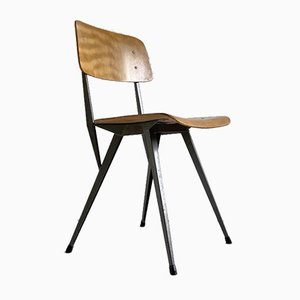 Mid-Century Plywood and Steel Dining Chair in the Style of Rietveld, 1960s
