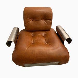 Inox und Leder Sessel von Kappa für Uginor, 1970er, 2er Set