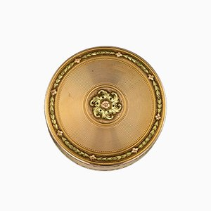 French 3-Color 18k Gold Snuff Box by Jean Baptiste Fouache, 1777