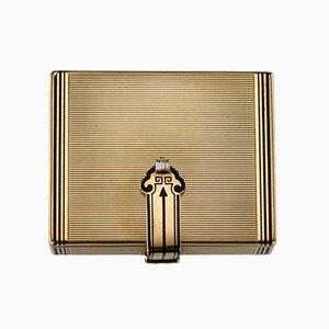 Vintage Art Deco Tiffany Gold, Emaille & Diamant Kosmetikkoffer von Cartier, 1920er