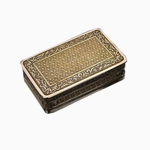 Antique French Silver Gilt Music Snuff Box, 1810s