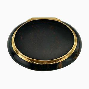 Antike Französische 18 Karat Goldmontierte Hartsteindose, 1790er