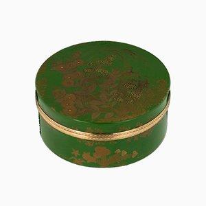 Antike französische 18 Karat vergoldete japanische Schnupftabakdose, 1780er