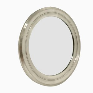 Round Nickel Mirror by Gianni Moscatelli for Formanova, 1970s