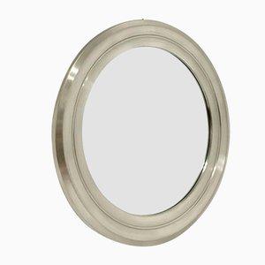 Runder Nickel Spiegel von Gianni Moscatelli für Formanova, 1970er