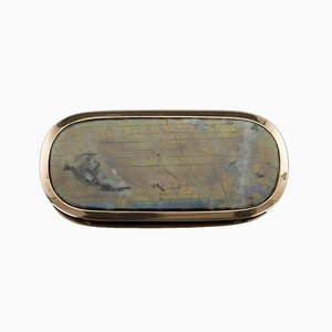 Antique Georgian 18k Gold-Mounted Labradorite Snuff Box, 1820s