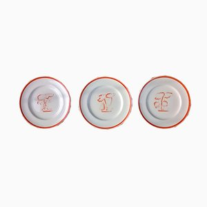 Plates by Gio Ponti for Richard Ginori, 1933, Set of 3