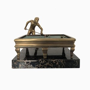 Italienische Skulptur aus Bronze mit Marmorsockel, 1950er